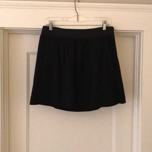 Black wool J Crew skirt